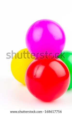 Color ball on isolated white background