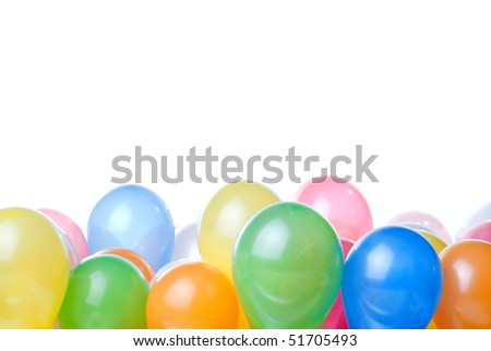 color balloons isolated on white