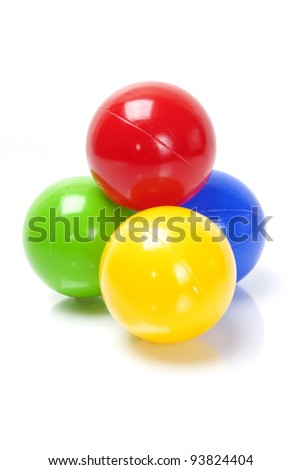 color balls on white background