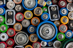 Color batteries of different sizes.