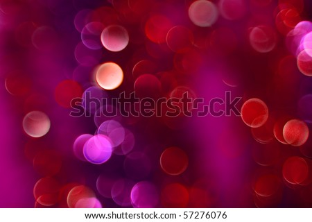 Color Bokeh  against a dark background for use at graphic design