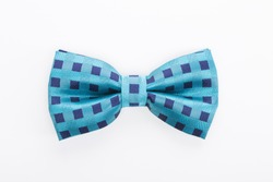 Color bow tie isolated on white background