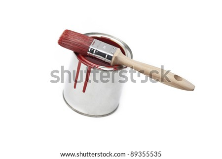 color bucket with brush