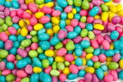 Color candies beans background