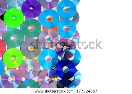 color CD and DVD as IT technology background