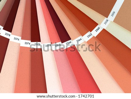 Color chart book closeup. Used to paint exteriors.