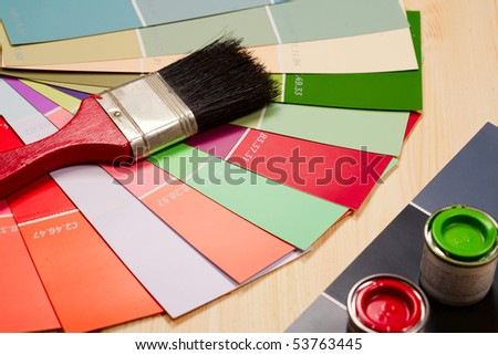 Color charts and paint tools