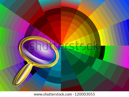 Color circle and magnifier