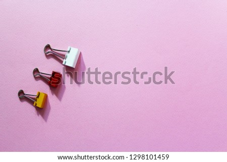 Color Clips and binder clips