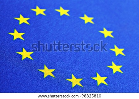 Color detail of the European Union flag