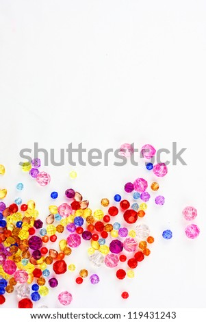 color diamond style luxury crystal balls and Christmas background