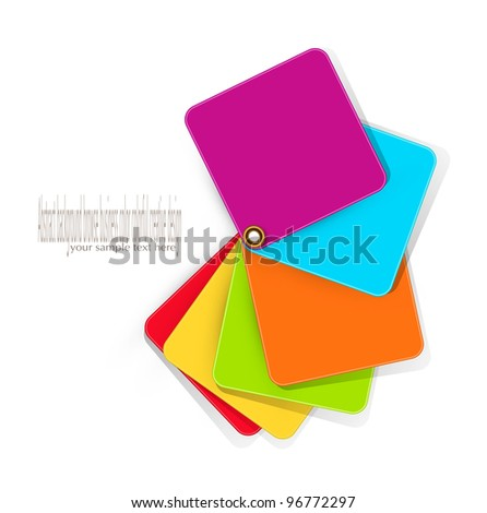 color elements for design on a white background