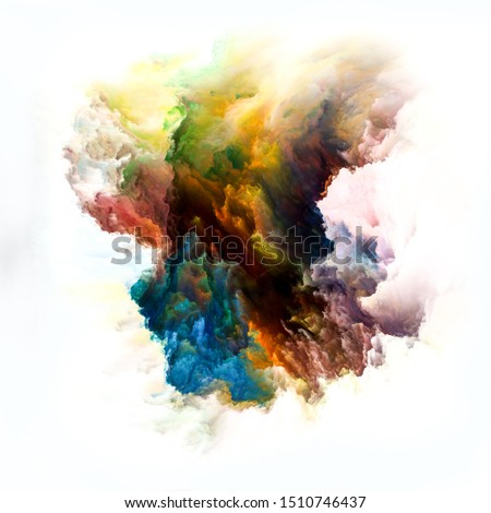 Color Emotion series. Visually pleasing composition of colorful ink blot for topics on imagination, creativity art and design