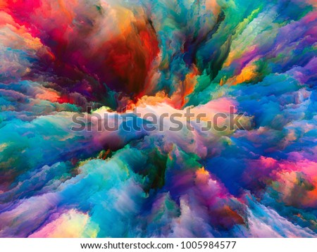 Color Explosion series. Design composed of fractal paint and rich texture as a metaphor on the subject of imagination, creativity and art