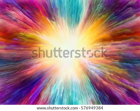 Color Explosion series. Design composed of vivid streaks as a metaphor on the subject of design, art and imagination