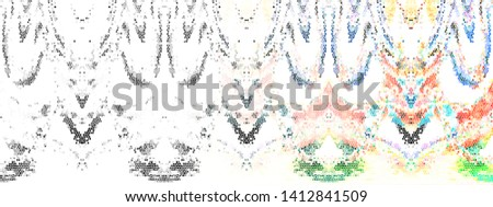 Color fading horizontal mosaic abstract pattern for textile and design