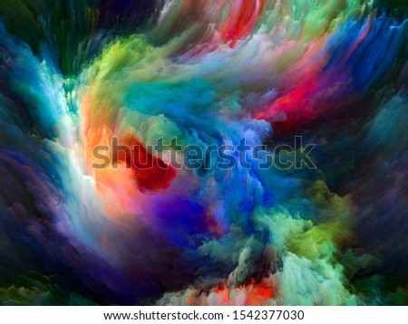 Color Flow series. Visually attractive backdrop made of streams of digital paint suitable in layouts on music, creativity, imagination, art and design