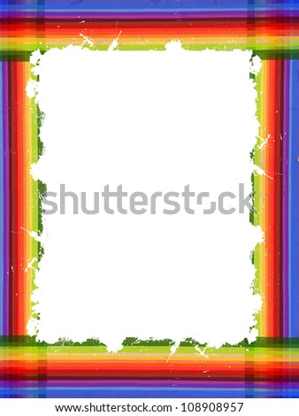 color frame from lines with big white space