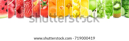 Color fruits and vegetables. Fresh food #719000419