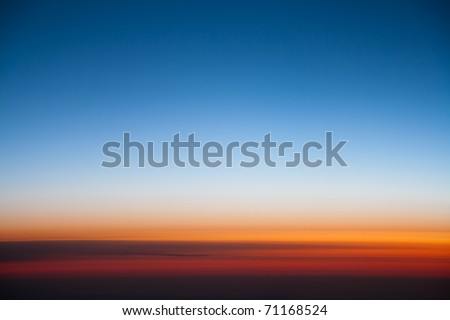 Color gradation of sunrise good for background