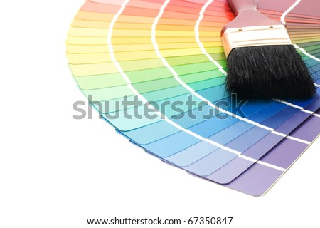 Color guide for selection isolated on white background
