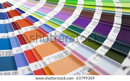 color guide swatch - for designers and printers (horizontal view)