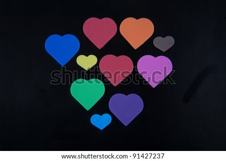 color hearts/small color craft/Beautiful hearts background.