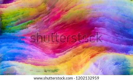 Color In Motion series. Graphic composition of Flowing Paint pattern for subject of design, creativity and imagination to use as wallpaper for screens and devices
