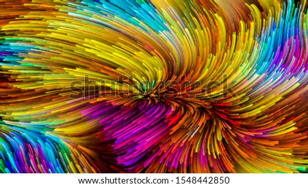 Color In Motion series. Visually pleasing composition of Flowing Paint pattern for works on design, creativity and imagination to use as wallpaper for screens and devices