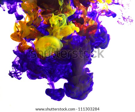 color ink in water