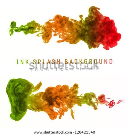 Color Ink Splash Background