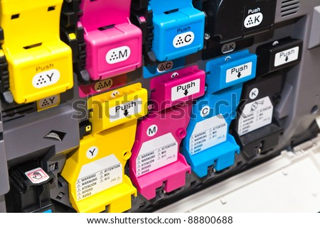 Color laser printer toner cartridges