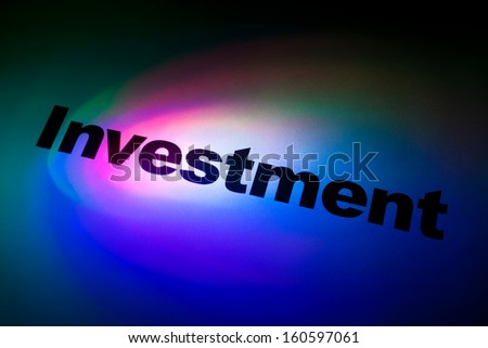 Color light and word of Investment for background