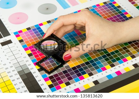 Color management and quality control  in print production #135813620