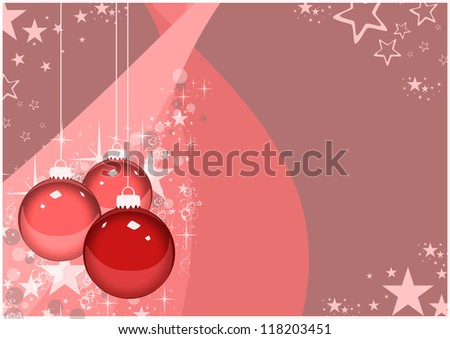 Color merry christmas card with ball background