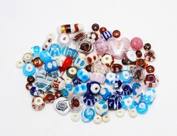Color mix of  lampwork  beads