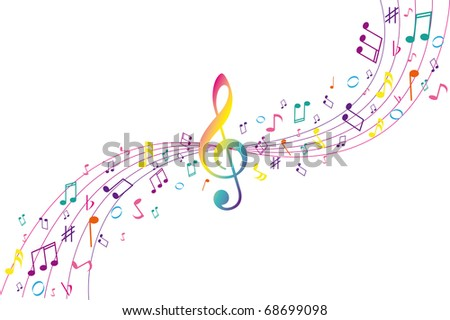 Color musical background
