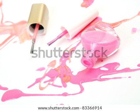 Color nail polish - stock photo