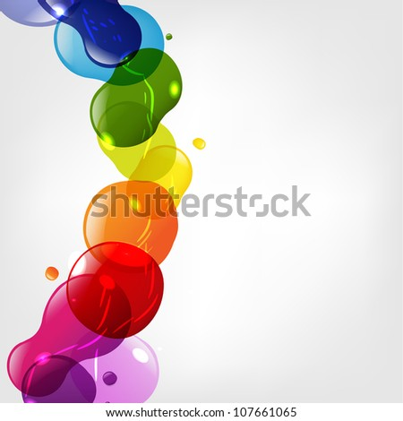 Color Neon Blobs With Bokeh, Isolated On Grey Background