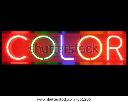 Color neon sign - stock photo