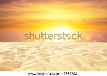color of sand and golden hour  - Shutterstock ID 433392031
