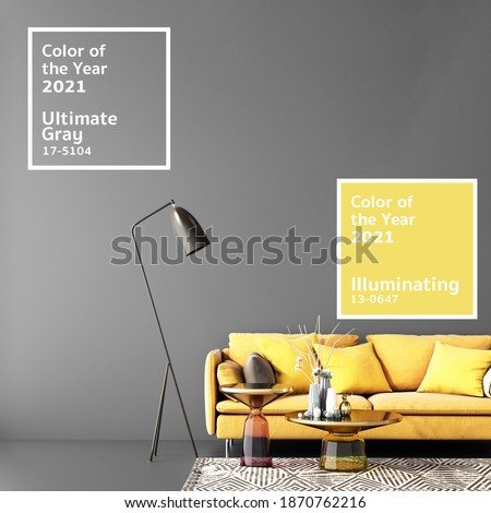 Color of the year 2021 in interior design ,3d illustration,3d rendering