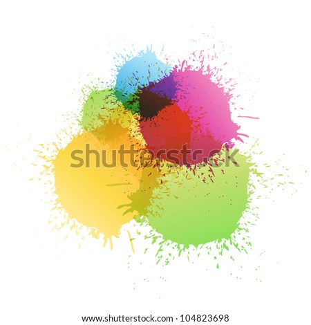 Color paint splashes. Raster version, Vector file id: 102906803