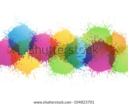 Color paint splashes. Raster version, Vector file id: 102906806