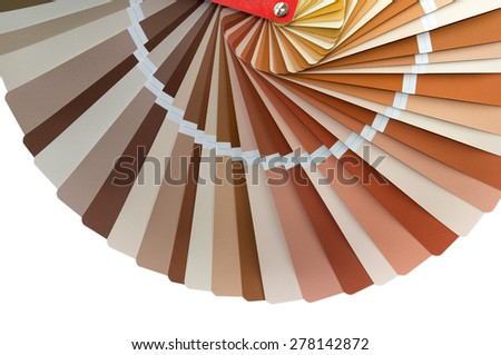 color palette guide for exterior works isolated on white background