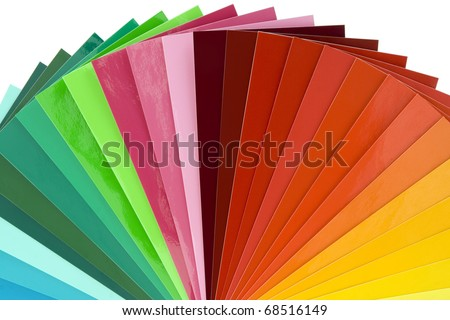 Color palette guide for printing industry isolated with clipping path