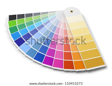 color palette guide isolated on white background