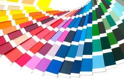 Color palette, guide of paint samples catalog
