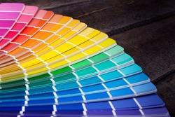 color palette guide of paint samples catalog