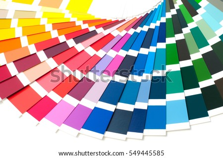 Color palette, guide of paint samples catalog